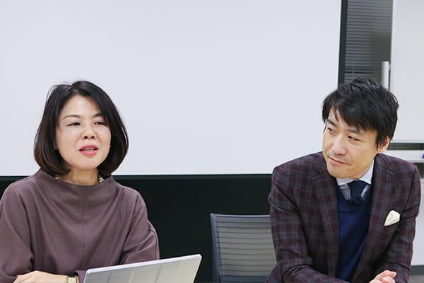 左:北川 佳寿美さん 右:事業企画部長 野村 圭司